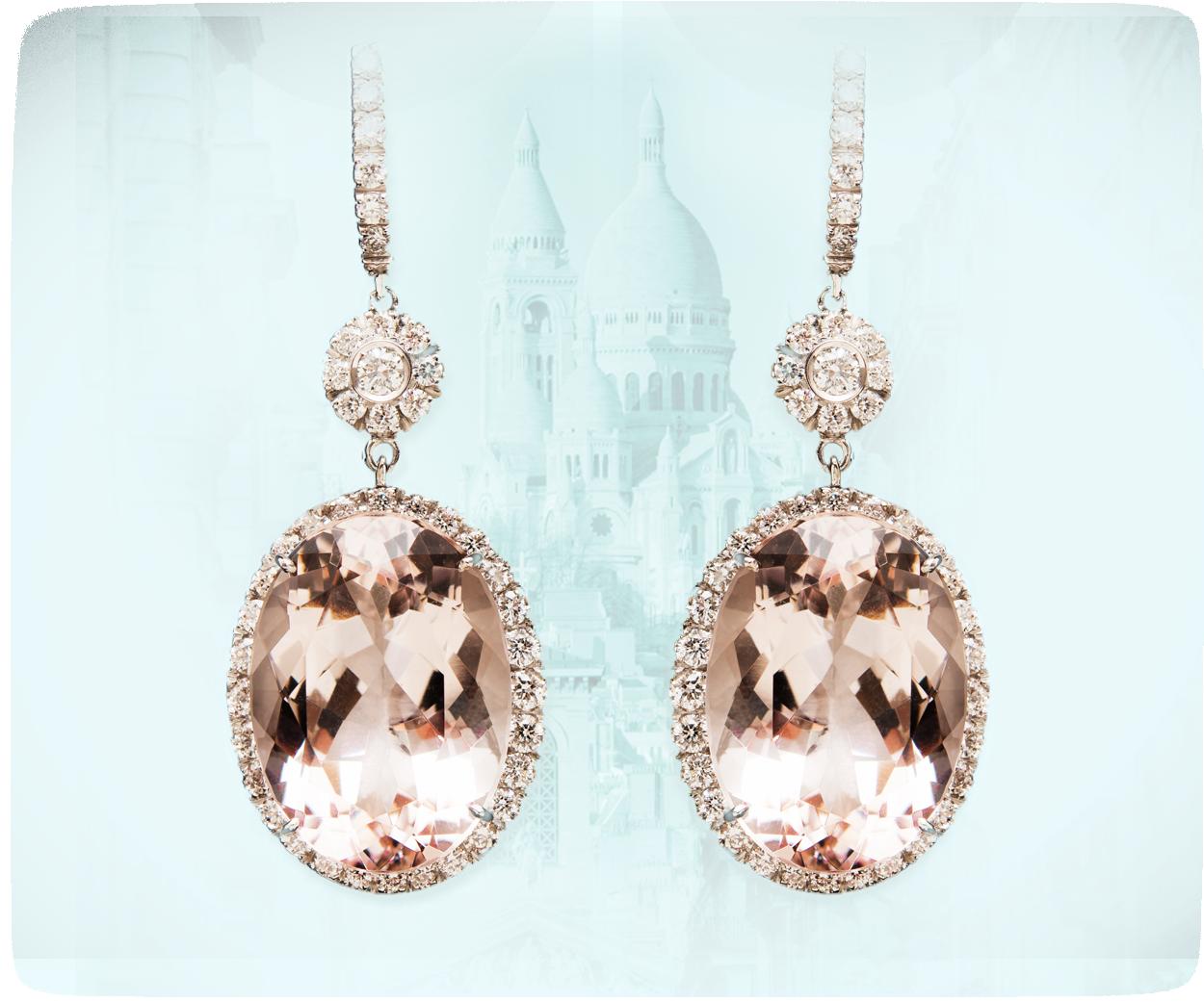 orecchini morganite parigi